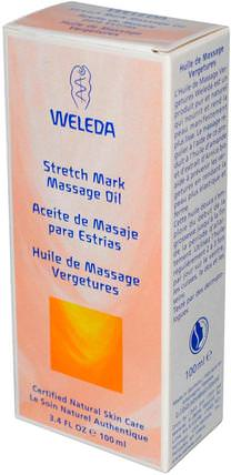 Stretch Mark Massage Oil, 3.4 fl oz (100 ml) by Weleda, 健康,皮膚,按摩油,懷孕 HK 香港