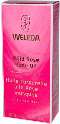 Body Oil, Wild Rose, 3.4 fl oz (100 ml) by Weleda, 健康,皮膚,按摩油,沐浴,美容,香薰精油,玫瑰精油 HK 香港