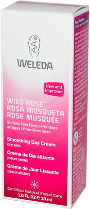Wild Rose, Smoothing Day Cream, 1.0 fl oz (30 ml) by Weleda, 美容,面部護理,面霜,乳液,健康,皮膚,面霜日 HK 香港