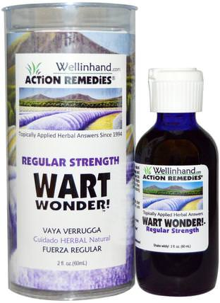 Wart Wonder, Regular Strength, 2 fl oz (60 ml) by Wellinhand Action Remedies, 健康,皮膚 HK 香港