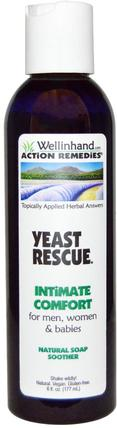 Yeast Rescue, Natural Soap Soother, For Men, Women, and Babies, 6 fl oz (177 ml) by Wellinhand Action Remedies, 健康,念珠菌,真菌酵母,個人衛生 HK 香港