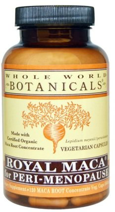 Royal Maca for Peri-Menopause, 120 Vegetarian Capsules by Whole World Botanicals, 補充劑,adaptogen,男性,瑪卡 HK 香港
