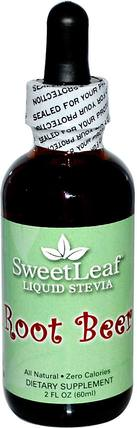 SweetLeaf, Liquid Stevia, Root Beer, 2 fl oz (60 ml) by Wisdom Natural, 食物,甜味劑,甜葉菊 HK 香港
