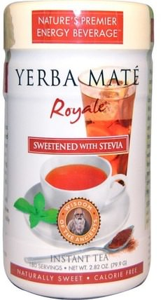 Yerba Mate Royale, Sweetened with Stevia, Instant Tea, 2.82 oz (79.9 g) by Wisdom Natural, 食物,涼茶,馬黛茶 HK 香港