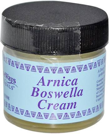 Arnica Boswella Cream, 1 oz by WiseWays Herbals, 草藥,山金車蒙大拿州,山金車,健康,婦女,boswellia HK 香港
