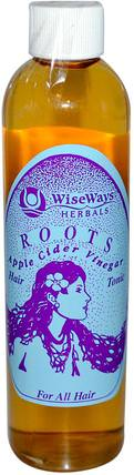 Roots Apple Cider Vinegar, Hair Tonic, 8.4 oz (250 ml) by WiseWays Herbals, 洗澡,美容,頭髮,頭皮,洗髮水,護髮素,護髮素 HK 香港