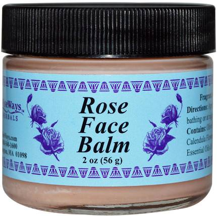Rose Face Balm, 2 oz (56 g) by WiseWays Herbals, 美容,面部護理 HK 香港