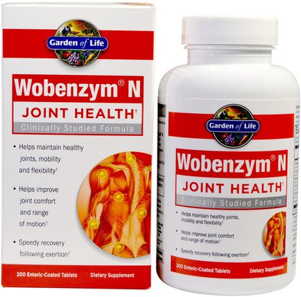 Wobenzym N, Joint Health, 200 Enteric-Coated Tablets by Wobenzym, 健康,骨骼,骨質疏鬆症,關節健康,炎症 HK 香港