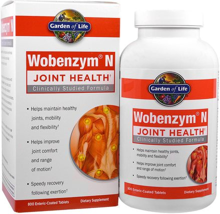 Wobenzym N, Joint Health, 800 Enteric-Coated Tablets by Wobenzym, 健康,骨骼,骨質疏鬆症,關節健康,炎症 HK 香港