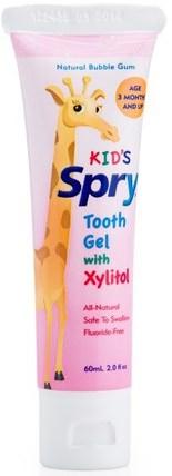 Kids Spry, Tooth Gel with Xylitol, Natural Bubble Gum, 2.0 fl oz (60 ml) by Xlear, 沐浴,美容,口腔牙齒護理,木糖醇口腔護理,牙膏 HK 香港