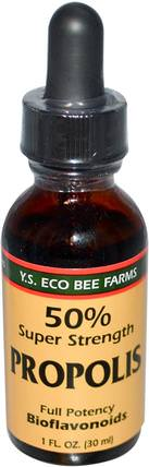 Propolis, 50% Super Strength, 1 fl oz (30 ml) by Y.S. Eco Bee Farms, 補充劑,蜂產品,蜂膠 HK 香港