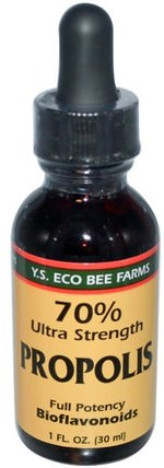 Propolis, 70% Ultra Strength, 1 fl oz (30 ml) by Y.S. Eco Bee Farms, 補充劑,蜂產品,蜂膠 HK 香港