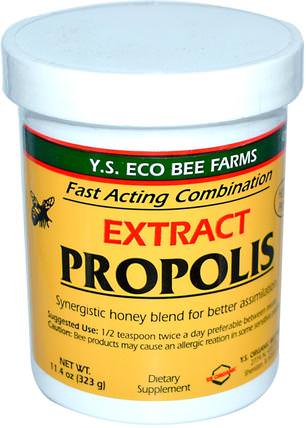 Propolis, Extract, 11.4 oz (323 g) by Y.S. Eco Bee Farms, 補充劑,蜂產品,蜂膠 HK 香港