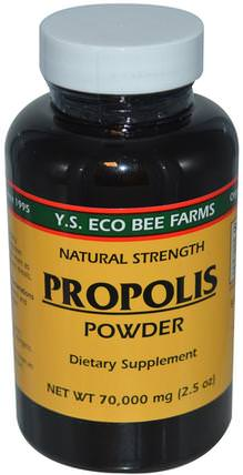Propolis Powder, 2.5 oz (70.000 mg) by Y.S. Eco Bee Farms, 補充劑,蜂產品,蜂膠 HK 香港