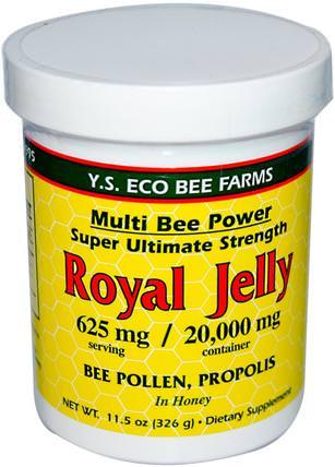 Royal Jelly, 11.5 oz (326 g) by Y.S. Eco Bee Farms, 補充劑,蜂產品,蜂王漿,食品,甜味劑 HK 香港