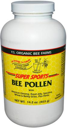 Super Sports, Bee Pollen, Protein Drink Enhancer, 14.2 oz (403 g) by Y.S. Eco Bee Farms, 補充劑,蜂產品,蜂花粉 HK 香港