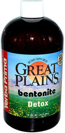 Great Plains, Bentonite, Detox, 16 fl oz (473 ml) by Yerba Prima, 補品,膨潤土,排毒 HK 香港