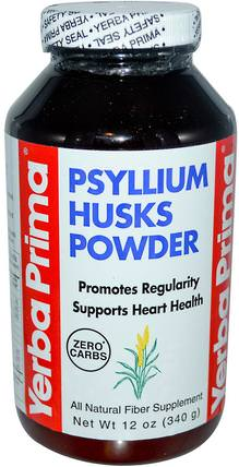 Psyllium Husks Powder, 12 oz (340 g) by Yerba Prima, 補品,洋車前子殼 HK 香港