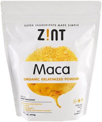 Maca, Organic Gelatinized Powder, 16 oz (454 g) by Z!NT, 補品,adaptogen,超級食品 HK 香港