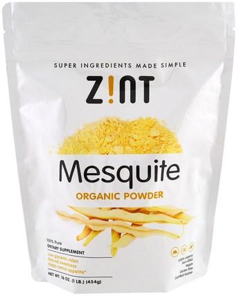Mesquite Organic Powder, 16 oz (454 g) by Z!NT, 補品,超級食品,香料和調料 HK 香港
