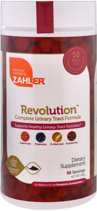 Revolution, Complete Urinary Tract Formula, 180 g by Zahler, 草藥,蔓越莓 HK 香港