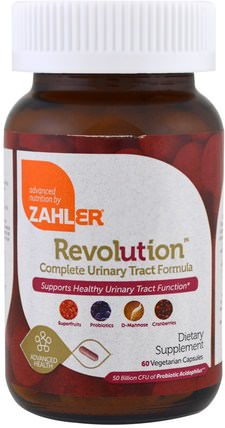Revolution, Complete Urinary Tract Formula, 60 Vegetarian Capsules by Zahler, 草藥,蔓越莓 HK 香港