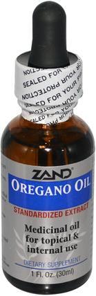 Zand, Oregano Oil, 1 fl oz (30 ml) 補充劑,牛至油,牛至油液