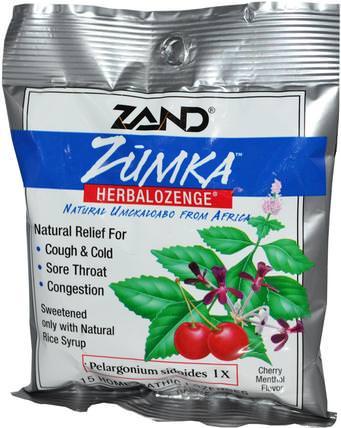 Zumka, Herbalozenge, Cherry Menthol Flavor, 15 Homeopathic Lozenges by Zand, 健康,感冒流感和病毒,感冒和流感,咳嗽滴 HK 香港