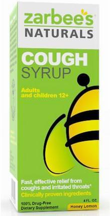 Cough Syrup, Honey Lemon, 4 fl oz by Zarbees, 補充劑,蜂產品,感冒和病毒,止咳糖漿 HK 香港
