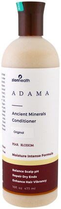 Adama, Ancient Minerals Conditioner, Pear Blossom, 16 fl oz (473 ml) by Zion Health, 洗澡,美容,頭髮,頭皮,洗髮水,護髮素,護髮素 HK 香港