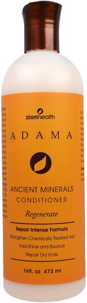 Adama Ancient Minerals Conditioner, Regenerate, 16 fl oz (473 ml) by Zion Health, 美容,面部去角質,面部護理,洗面奶 HK 香港