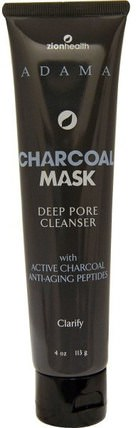 Adama, Charcoal Mask, Deep Pore Cleanser, 4 oz (113 g) by Zion Health, 美容,面膜,泥面膜,面部護理,洗面奶 HK 香港