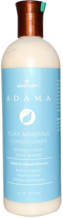 Adama, Clay Minerals Conditioner, Peach Jasmine, 16 oz (473 ml) by Zion Health, 洗澡,美容,頭髮,頭皮,洗髮水,護髮素,護髮素 HK 香港