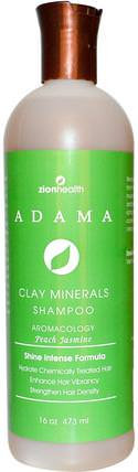 Adama, Clay Minerals Shampoo, Peach Jasmine, 16 oz (473 ml) by Zion Health, 洗澡,美容,頭髮,頭皮,洗髮水,護髮素 HK 香港