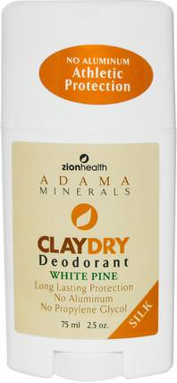 Clay Dry Deodorant, White Pine, Bold, 2.5 oz (70 g) by Zion Health, 洗澡,美容,除臭劑 HK 香港