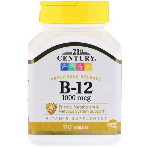 21st Century, B-12, 1000 mcg, 110 Tablets Review