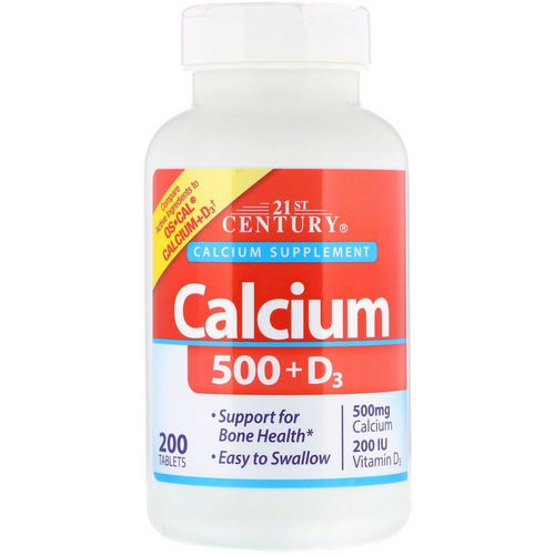 21st Century, Calcium 500 + D3, 200 Tablets Review