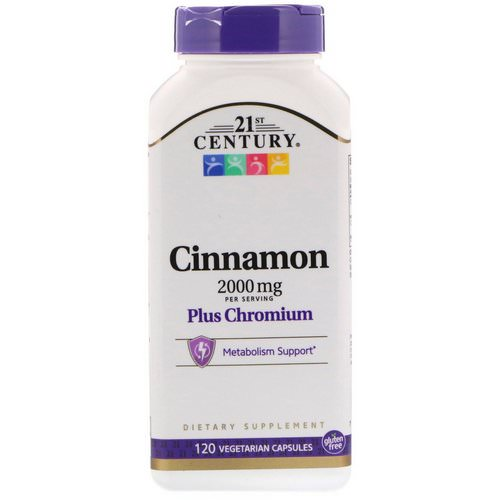 21st Century, Cinnamon Plus Chromium, 2000 mg, 120 Vegetarian Capsules Review