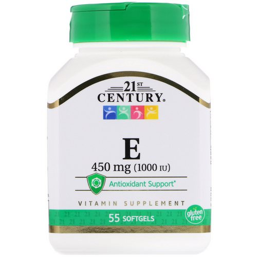 21st Century, E, 450 mg (1000 IU), 55 Softgels Review