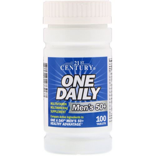 21st Century, One Daily, Men's 50+, Multivitamin Multimineral, 100 Tablets Review