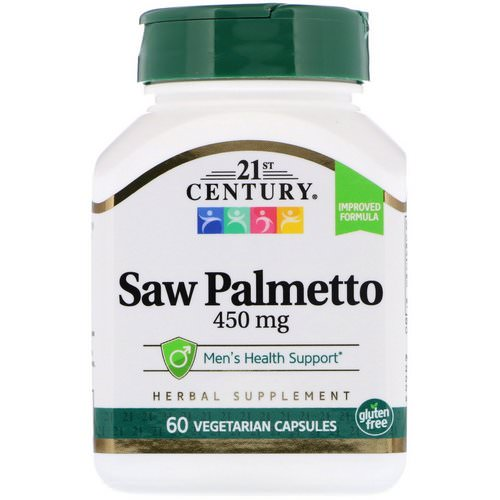 21st Century, Saw Palmetto, 450 mg, 60 Vegetarian Capsules Review