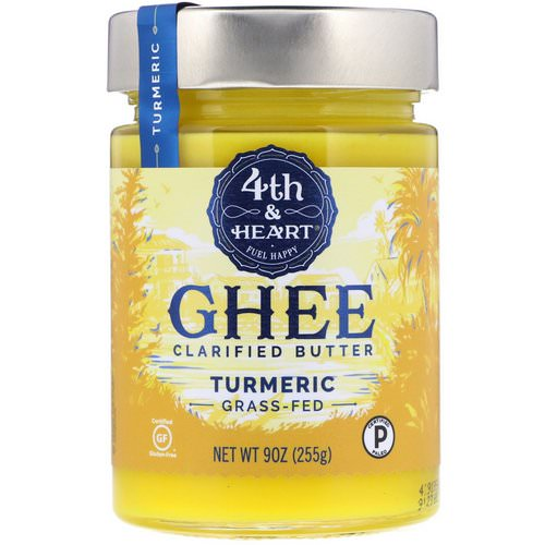 4th & Heart, Ghee Clarified Butter, Grass-Fed, Turmeric, 9 oz (255 g) Review