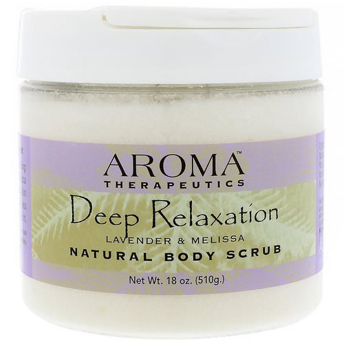 Abra Therapeutics, Natural Body Scrub, Deep Relaxation, Lavender and Melissa, 18 oz (510 g) Review