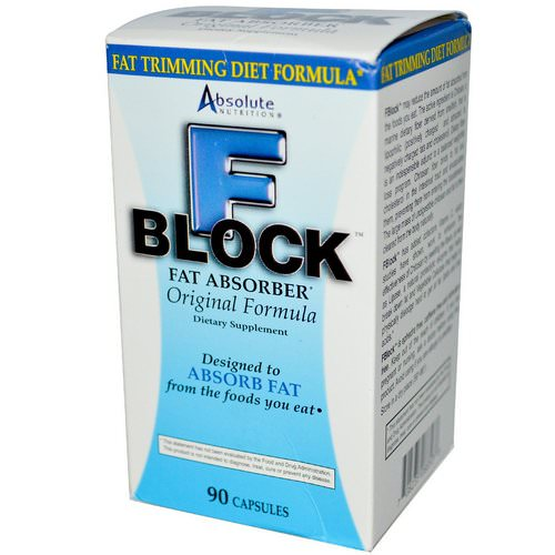 Absolute Nutrition, FBlock, Fat Absorber, 90 Capsules Review