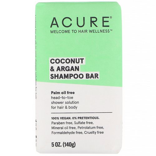 Acure, Coconut & Argan Shampoo Bar, 5 oz (140 g) Review