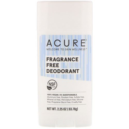 Acure, Deodorant, Fragrance Free, 2.25 oz (63.78 g) Review