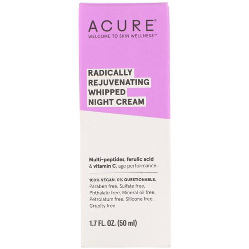 Acure, Radically Rejuvenating Whipped Night Cream, 1.7 fl oz (50 ml) Review