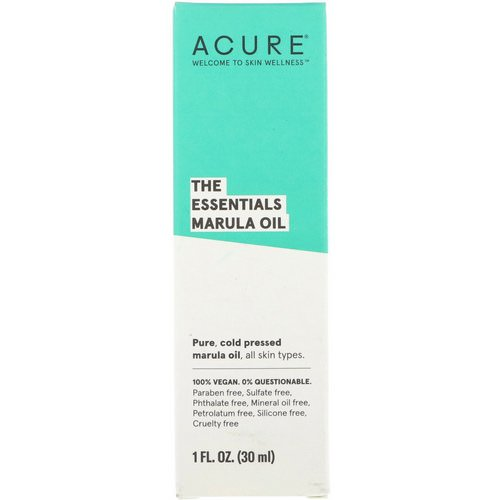 Acure, The Essentials Marula Oil, 1 fl oz (30 ml) Review