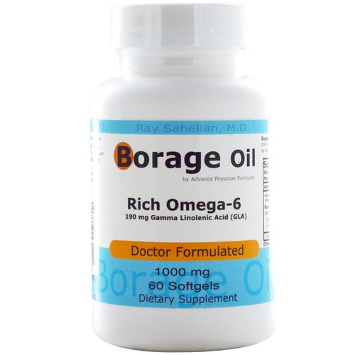 Advance Physician Formulas, Borage Oil, 1000 mg, 60 Softgels Review