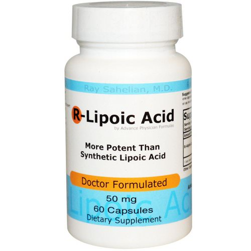 Advance Physician Formulas, R-Lipoic Acid, 50 mg, 60 Capsules Review